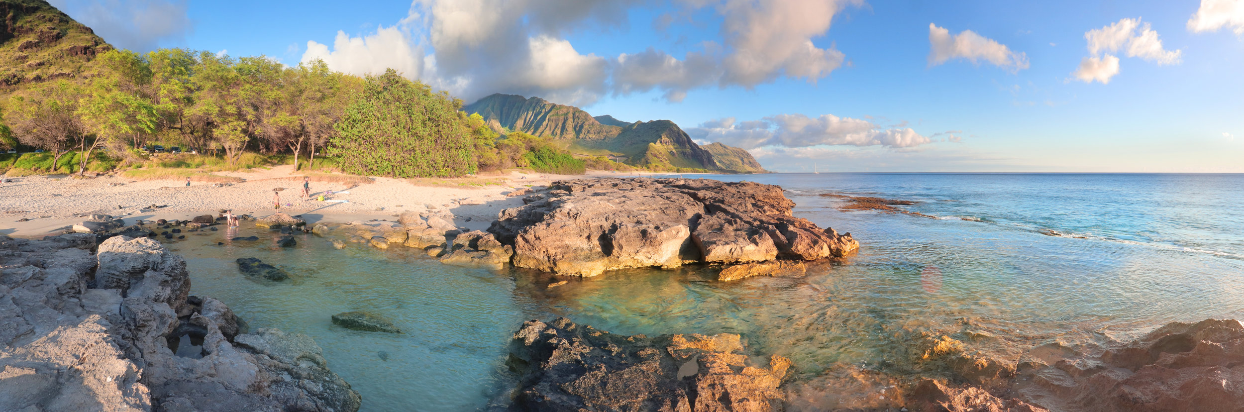 Sacred Mākua runs from the mountain to the sea. It is vital that Mākua is cleaned up after decades of military training and protected, because whatever happens mauka flows makai. Photo by Nate Yuen.