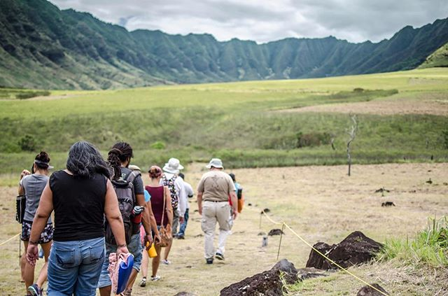 "Mākua Valley is calling you and welcoming you home. Hele mai! Pay your respects to sacred Mākua on the next cultural access. Come home.  Access will begin at 4 pm on Saturday, June 17. Welcome Hōkūleʻa home in the morning at Magic Island and connect with Mākua in the afternoon! Mākua was one of Hōkūleʻa's stops, along with the waʻa Hikianalia, in a sail around the Hawaiian islands in 2013 before setting off for an around the world sail promoting Mālama Honua. Mālama Mākua's Vince Dodge was with the greeting party that day to welcome the two waʻa as they arrived from Kauaʻi. He had also sailed upon Hōkūleʻa several years before. He will be sharing stories of Hōkūleʻa.  The community has been denied access to any historic and cultural site, many sites that are hundreds of years old, for a couple years and Mālama Mākua has been forced to take the US army back to court to correct the situation. As of a recent access, on Feb. 12, two sites have been opened to the community! We plan to visit those sites again and we look forward to the army fulfilling their part of a long-standing court-sanctioned agreement and opening back up all the cultural sites that had been available to the community a couple years ago as part of that agreement.  To get your name or the names of everyone in your hui on the list to be able to come on the access, simple go to our main Facebook page and click the ""Send Message"" button. Names need to match photo I.D. You can also send names to wearemakua@gmail.com. Names need to be recieved by 7 p.m. on Wednesday, June 14, to secure the place for you and/or your hui on the list. Please do not only click the 'Going' button on this page. You might not get on the list if you do that. You can also confirm the time to meet when you text. If it was up to Mālama Mākua, there might not be a list, but if your name is not on the list, the U.S. Army representatives will not let you in the valley, unfortunately. Bring photo I.D. (to check in, no I.D., no go, unfortunately), plenty of water and sunscreen (since it can get hot in Mākua and there is very little shade), a snack (to eat &/or share) and covered shoes. (Photo by Dianela Gahn)"