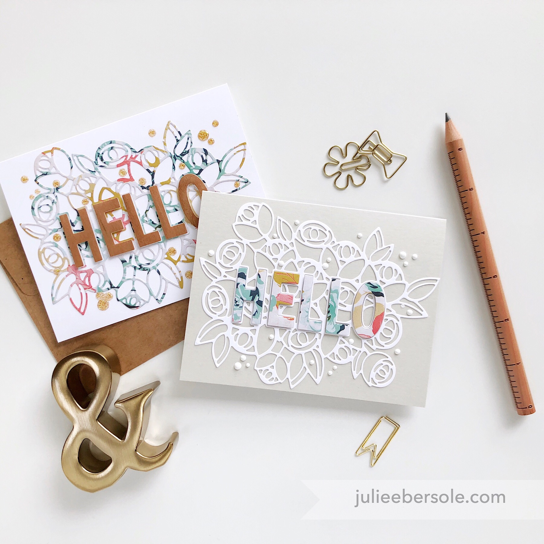 Featured:  Hello With a Bouquet Die