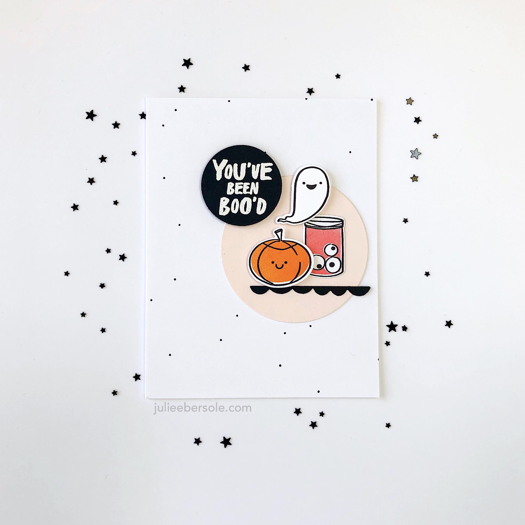 Feat.  Happy Haunting by Julie Ebersole, Essentials By Ellen Clear Stamps  and  The Last Bite by Julie Ebersole, Essentials By Ellen Clear Stamps  (product links listed down at the bottom of the post)