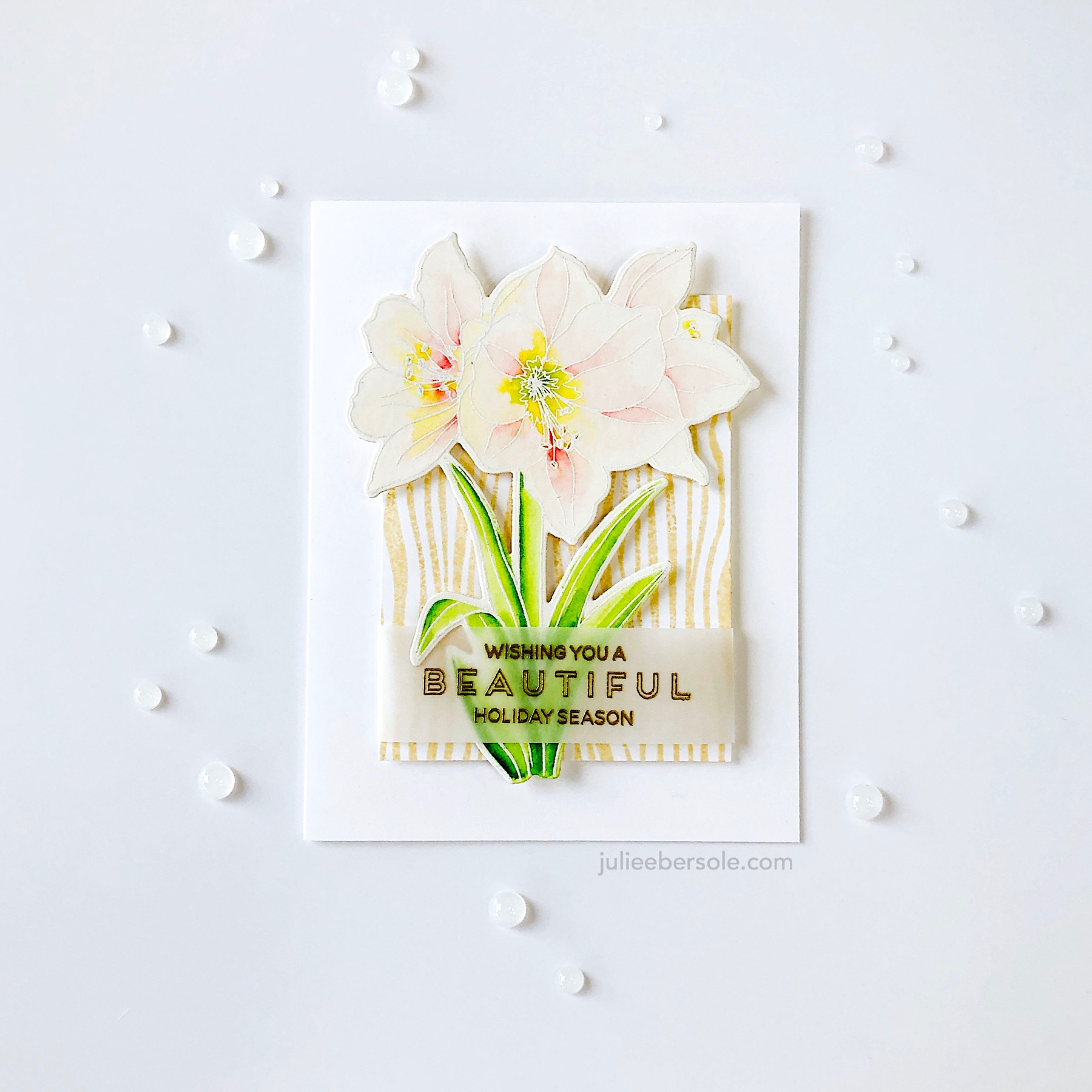 Feat.  Mondo Amaryllis by Julie Ebersole, Essentials By Ellen Clear Stamps  |  Mondo Amaryllis by Julie Ebersole, Essentials By Ellen Designer Dies  |  Rustic Woodgrain by Julie Ebersole, Essentials By Ellen Clear Stamps