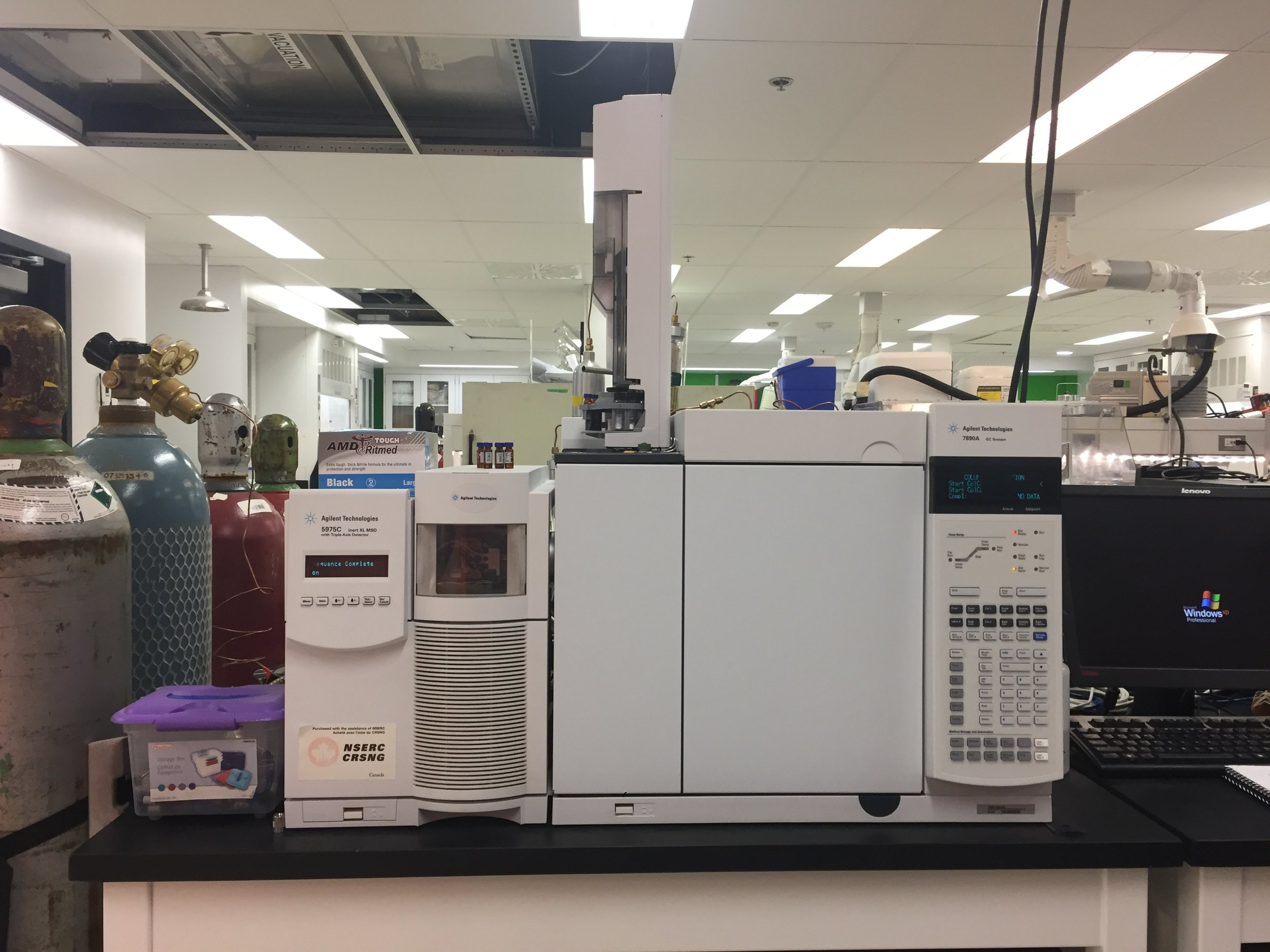 Agilent Technologies GC-MS/FID (CFI and NSERC funded)