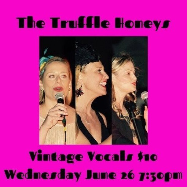 Don't miss the vintage vocals of The Truffle Honeys! The retro goddesses of New Orleans are making their debut at The Little Gem Saloon. Come enjoy classic jazz, blues and swing tunes with a fresh new twist in three part harmonies and including full band accompaniment of piano, bass, drums and horn. ⠀ ⠀ Music at 7:30pm