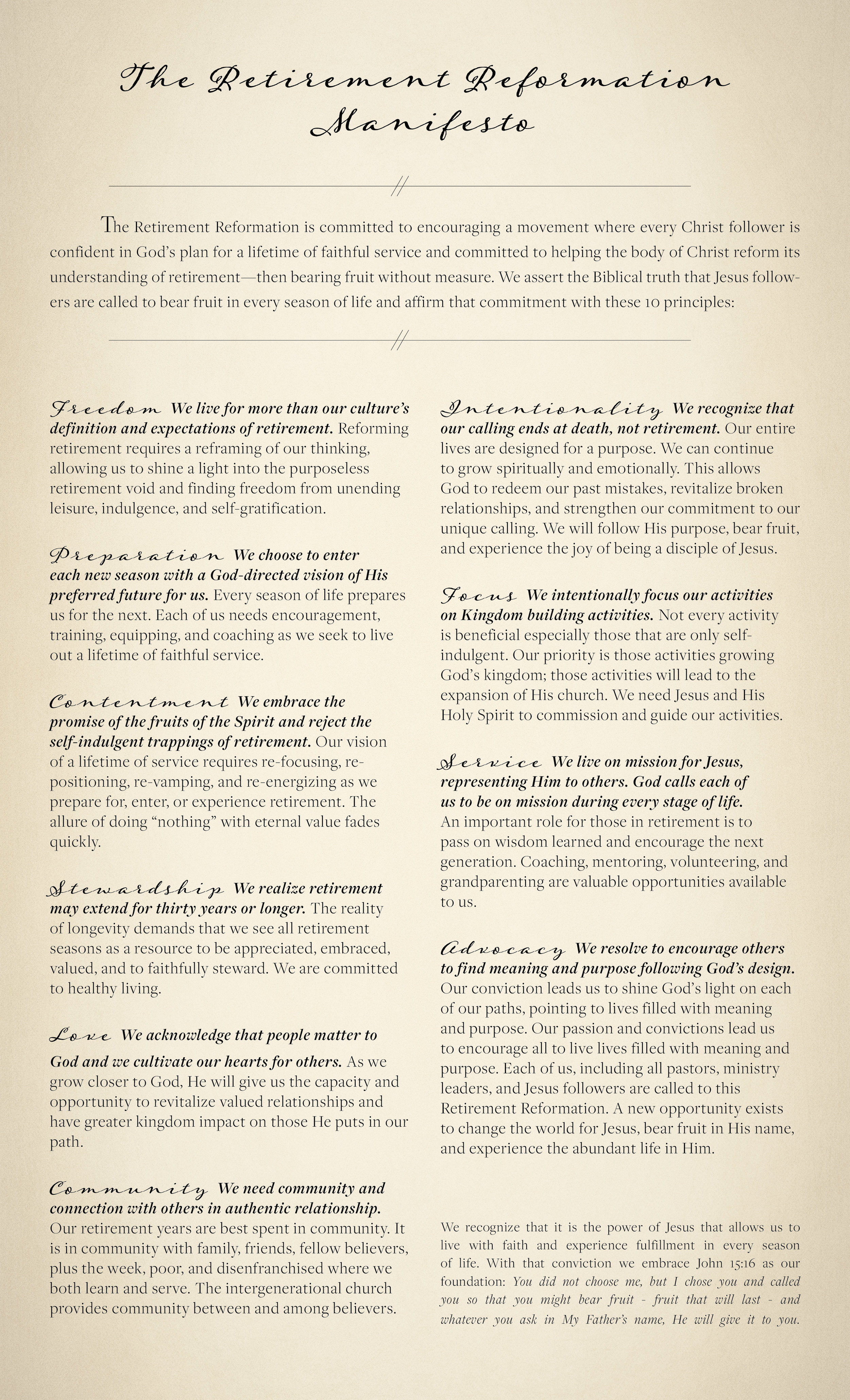 Get a Copy of the Manifesto - Click Here