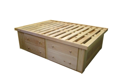 Bed - Berkshire - 8 Drawer Tall Storage Bed - Unfinished.jpg