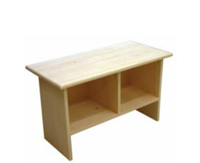 Benches - Evergreen - Cubby Bench - Unfinished.jpg