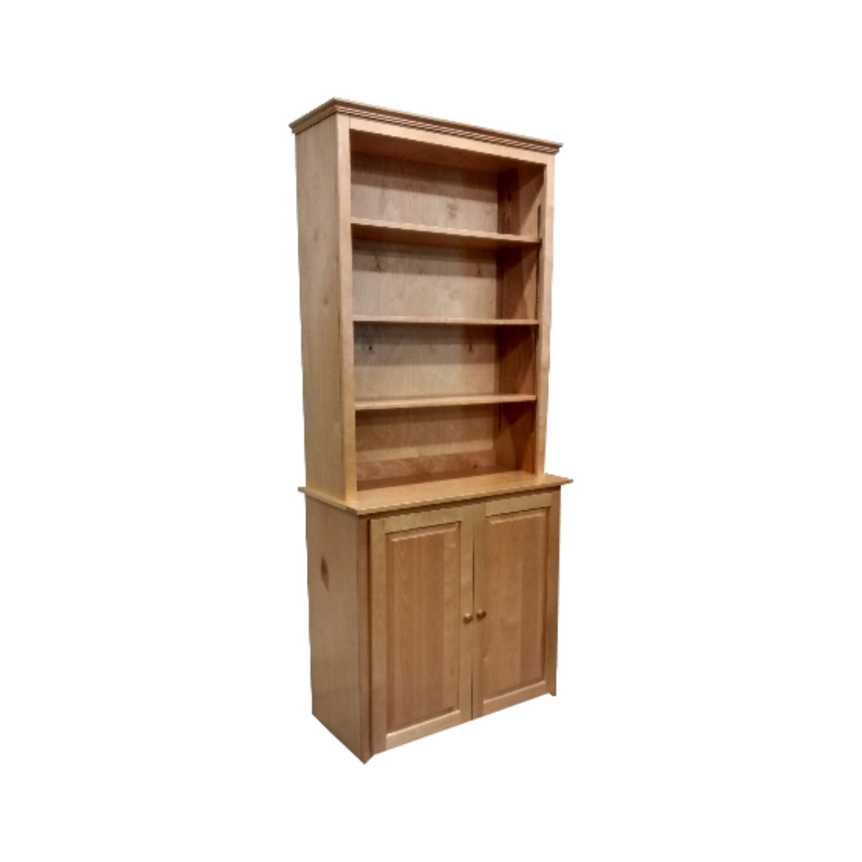 Bookcase With Doors - Berkshire - Step Back Bookcase Hutch - Finished.jpg