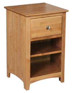 Nightstand - Archbold - Shaker nightstand 1 drawer - Finished.jpg
