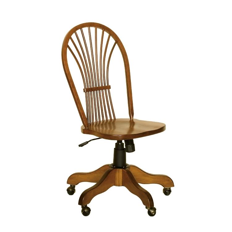 Penns Creek Shaker Wheat-Back Side Desk Chair    Starting at: $