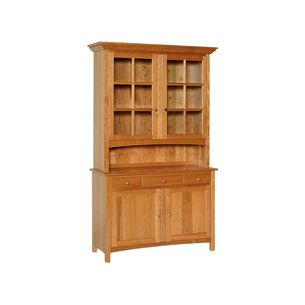 china hutch - penns creek - 54w shaker china hutch - cupboard and sideboard - finished.jpg