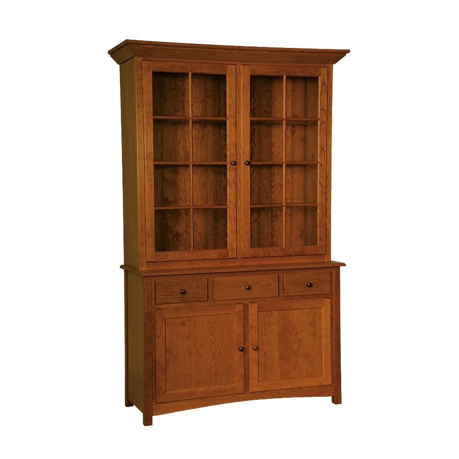 china cabinet - penns creek - 54w shaker full china cabinet - finished.jpg