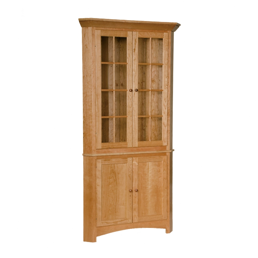 corner china cabinet - penns creek - shaker corner cupboard - finished.jpg
