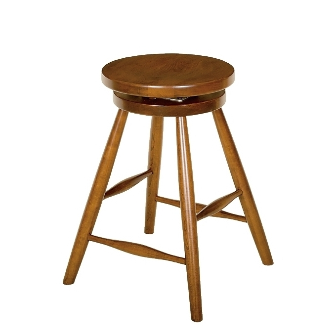 Penns Creek Shaker Round Top Stool With Swivel    Starting at: $