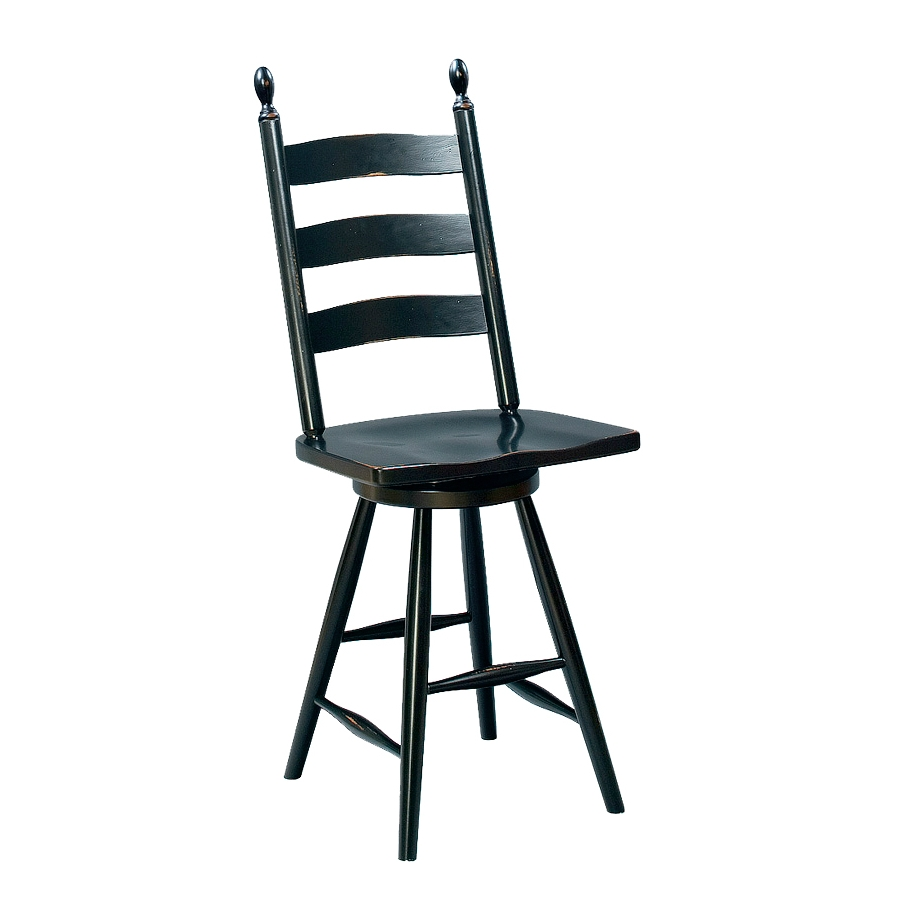 Penns Creek Shaker Ladder Back Stool With Swivel    Starting at: $