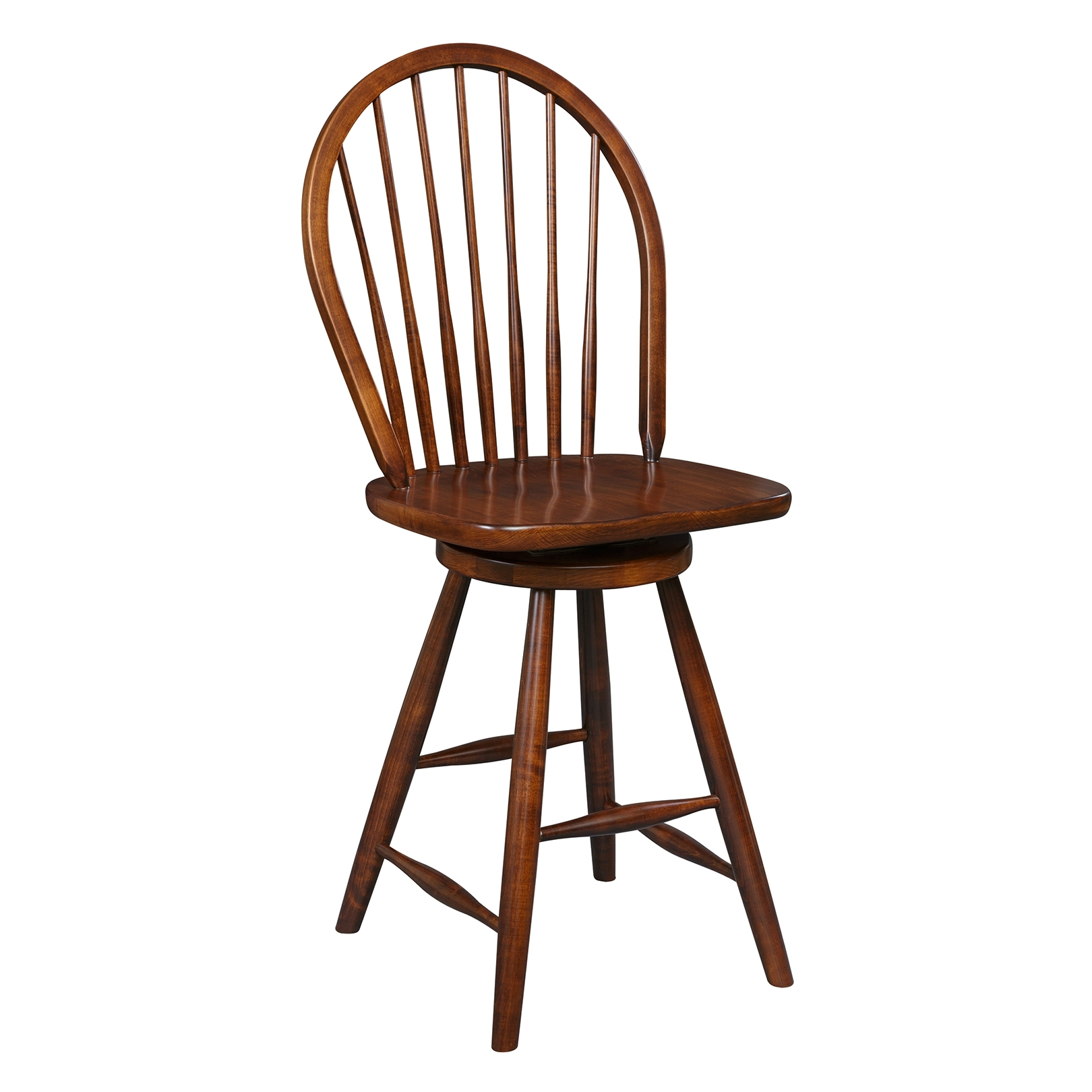 Penns Creek Shaker New England Windsor Stool With Swivel    Starting at: $