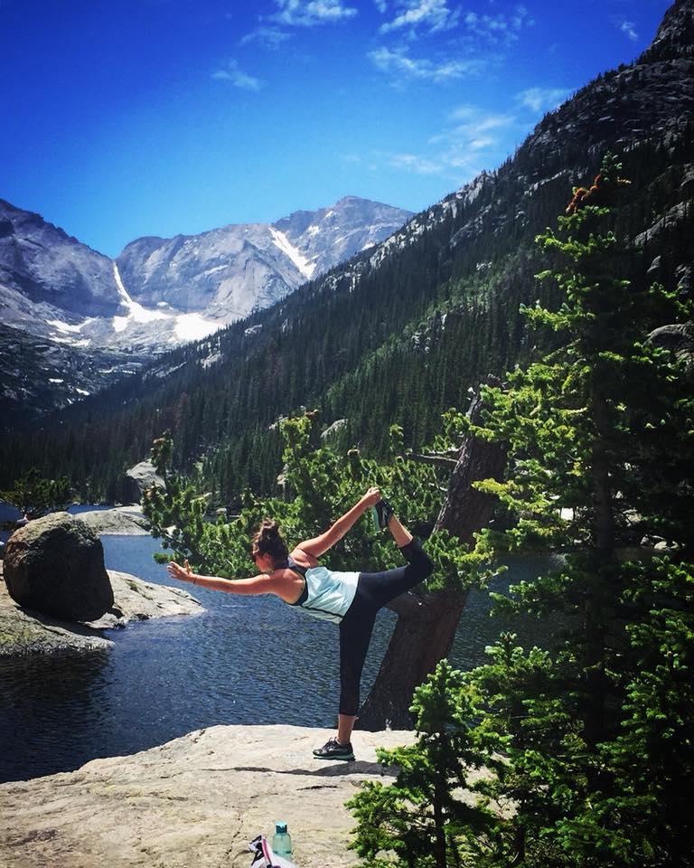 Yoga in Rocky Mountain National Park Colorado