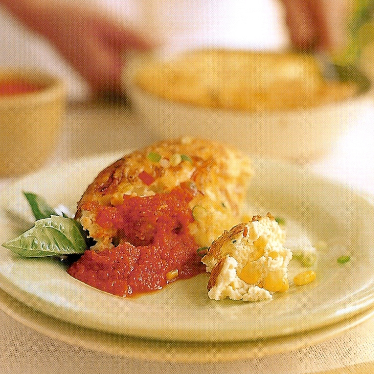 Spicy Squash and Corn Pudding with Roasted Tomato Vinaigrette.jpg