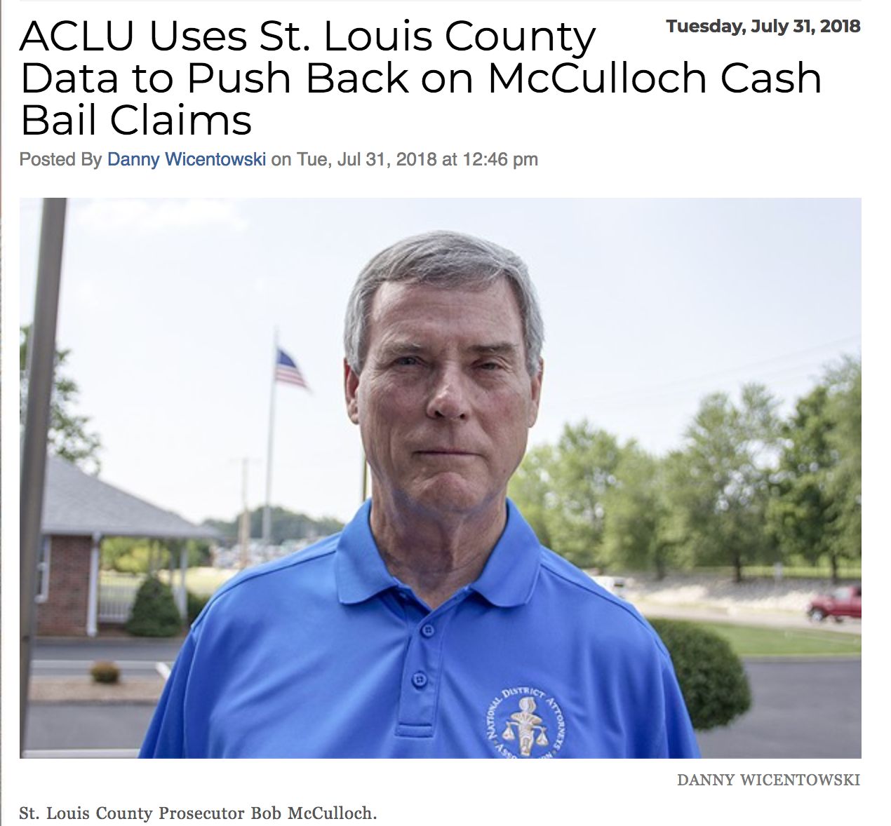 The Bail trap - In 2017, in St. Louis County nearly 1,000 people spent time in pre-trial detention on misdemeanor charges because they couldn't afford to post bail. The cash bail system criminalizes poverty and the long-term damage bail inflicts on members of our community extends beyond pre-trial detention. The system separates people from their families and jeopardizes work and housing. Prosecutors have the power to eliminate cash bail, and it is imperative to do so. Read the article here.
