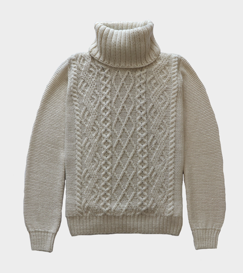The Aran Island Turtleneck from Ireland.   Click to Shop