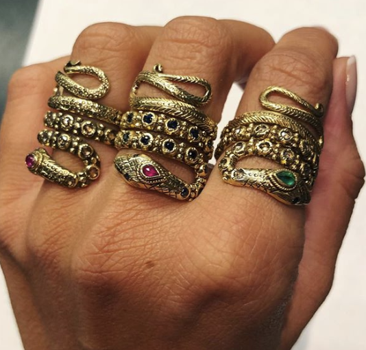 The Snake Ring from the Gem Palace in India.  Shop via Instagram @thegempalace