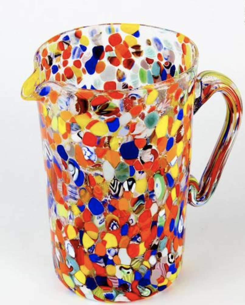 Polychrome Pitcher from the Original Murano Glass Factory in Venice, Italy.   Click to Shop