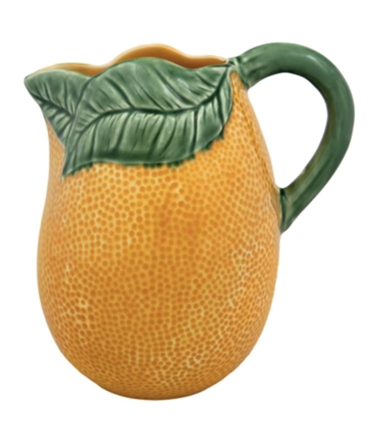 Orange Pitcher from The Bordallo Pinheiro.   Click to Shop