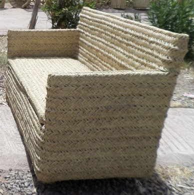 Woven Rattan Sofa from Morocco.   Click to Shop