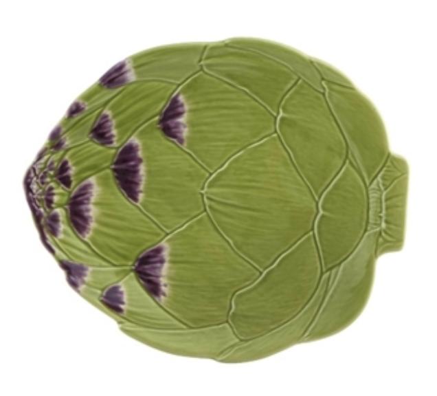 Artichoke Plate from Bordallo Pinheiro in Portugal.   Click to Shop