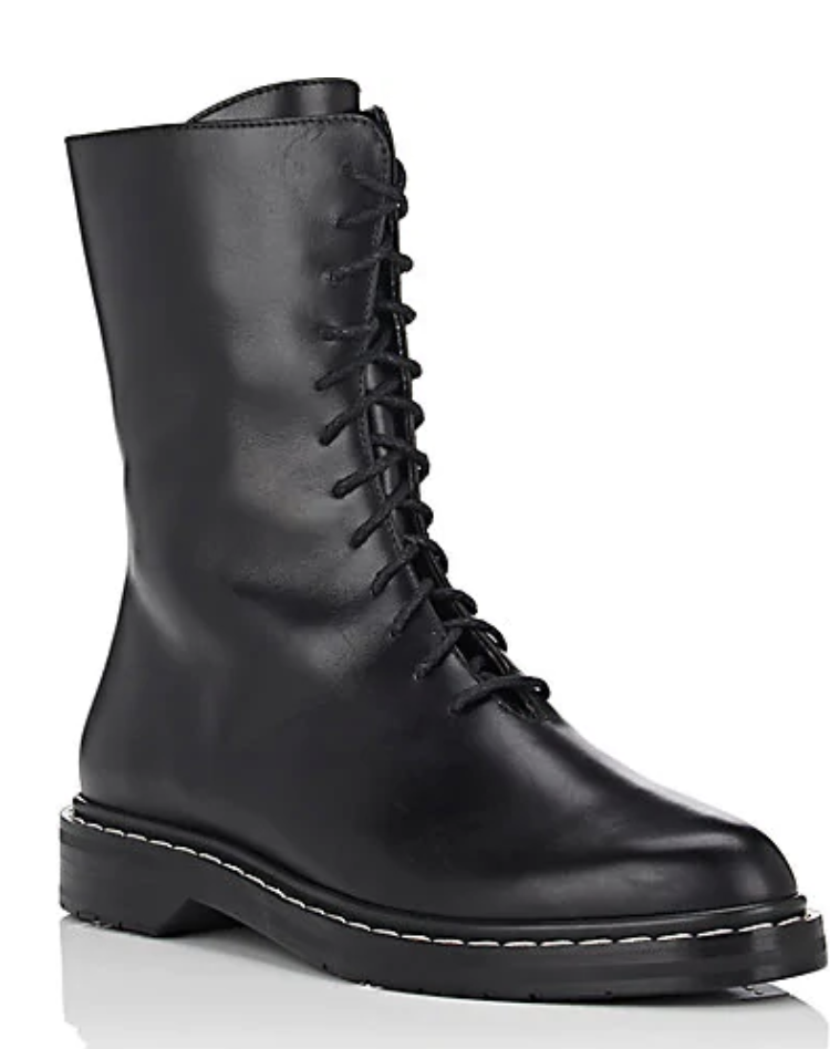 Leather Combat Boots by The Row from Italy.   Click to Shop