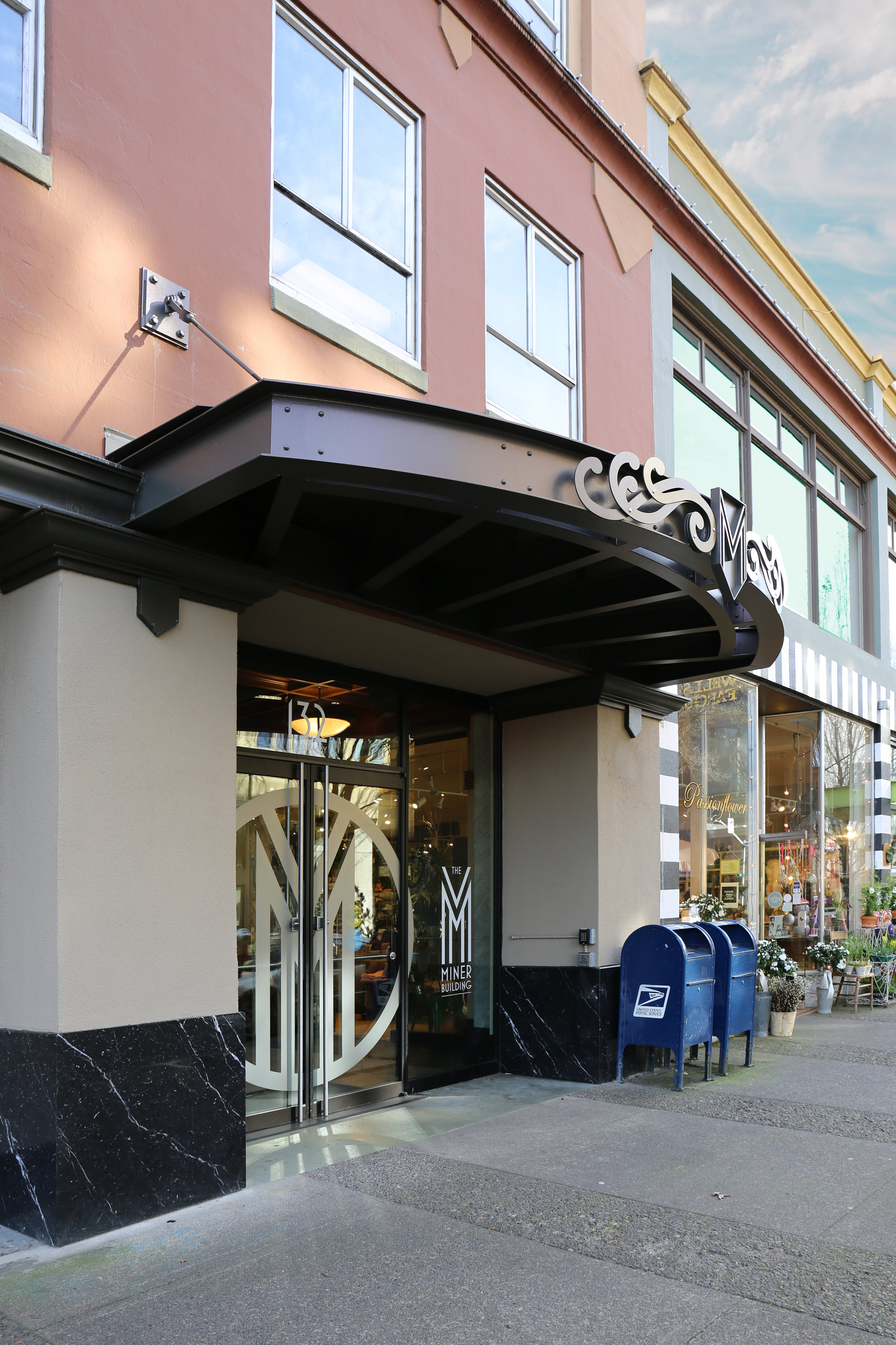 Miner Building Awning