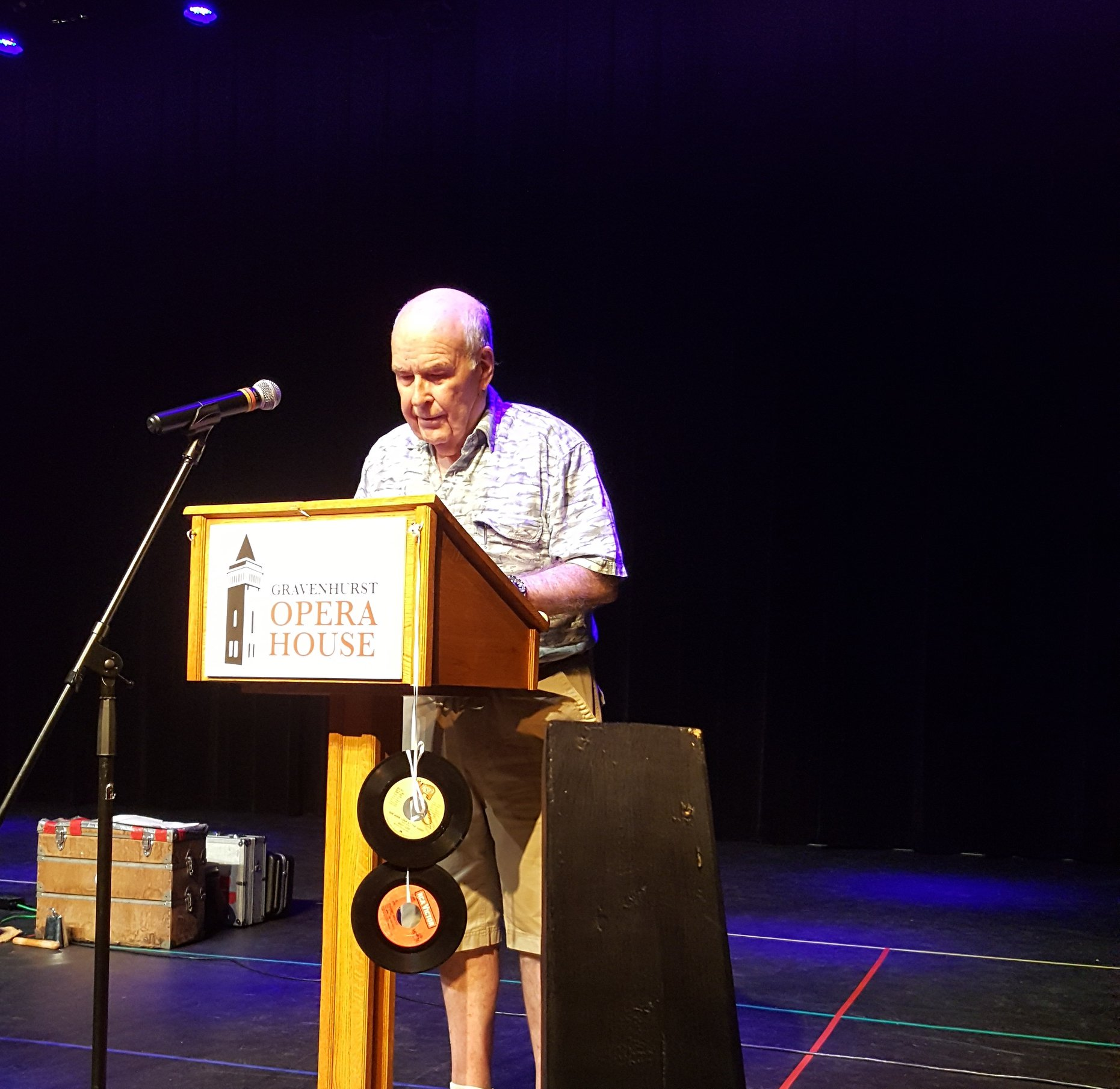 John Cooper giving his thank you speech.