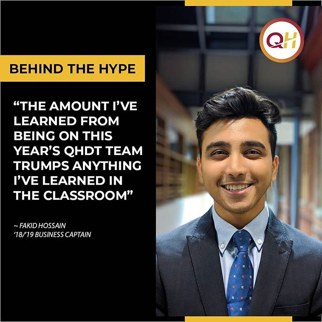 Former Business Captain Fakid Hossain reflects on his experience with QHDT and the team's success at SpaceX Hyperloop Pod Competition this year! Link in bio!