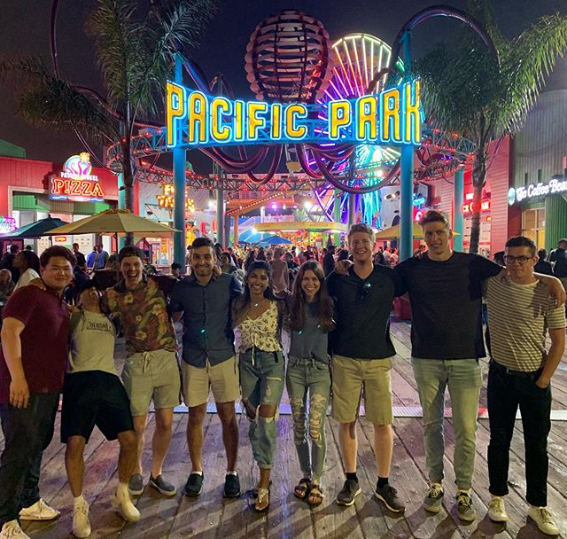 3 Days to Go: Had an amazing night of fun on Santa Monica Pier after successfully completing our Pod Transport Procedure at SpaceX. Moments like these are what makes our team feel like family. 💙💛❤️