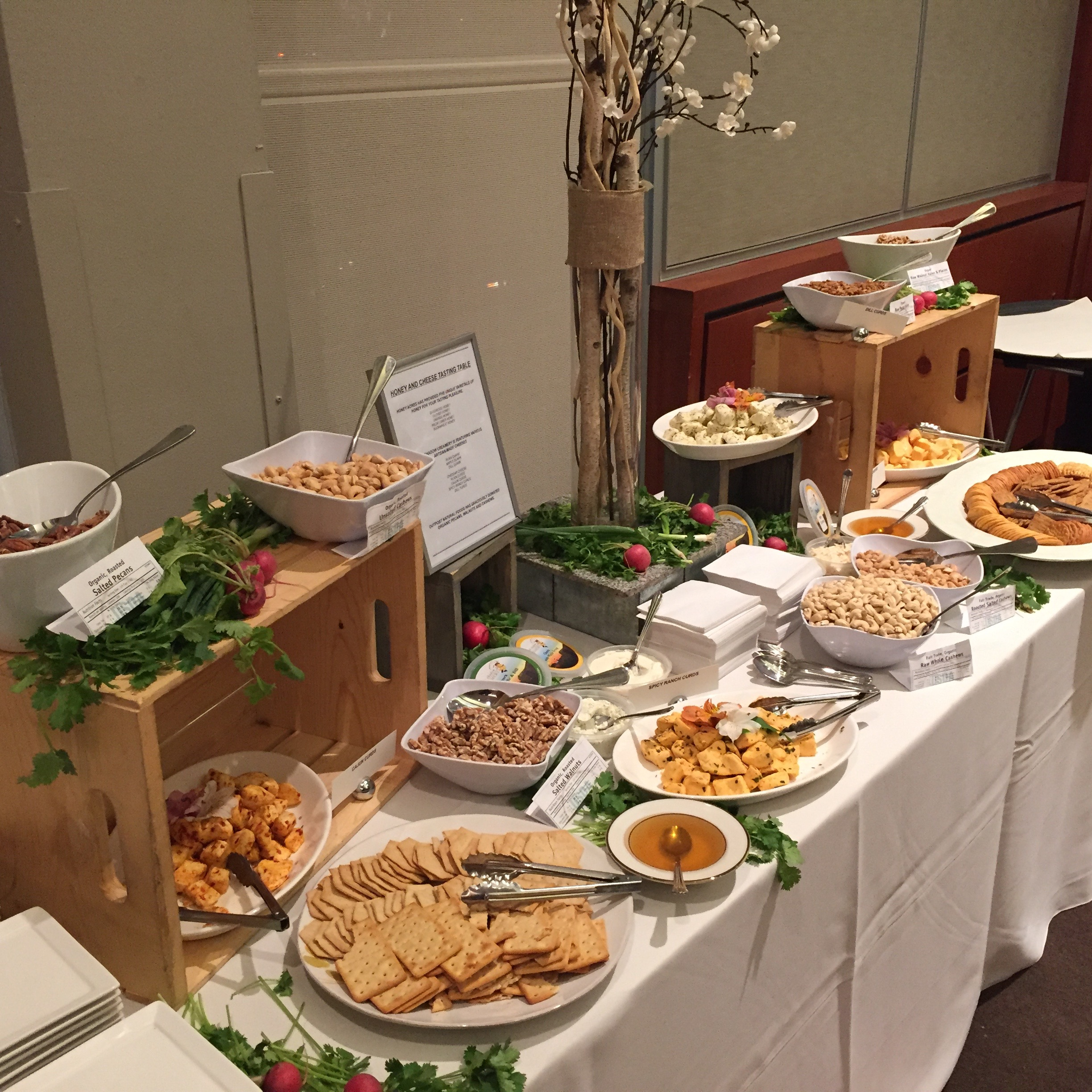 Locally sourced appetizers for the U.S. Green Building Council's Transformation Awards Reception