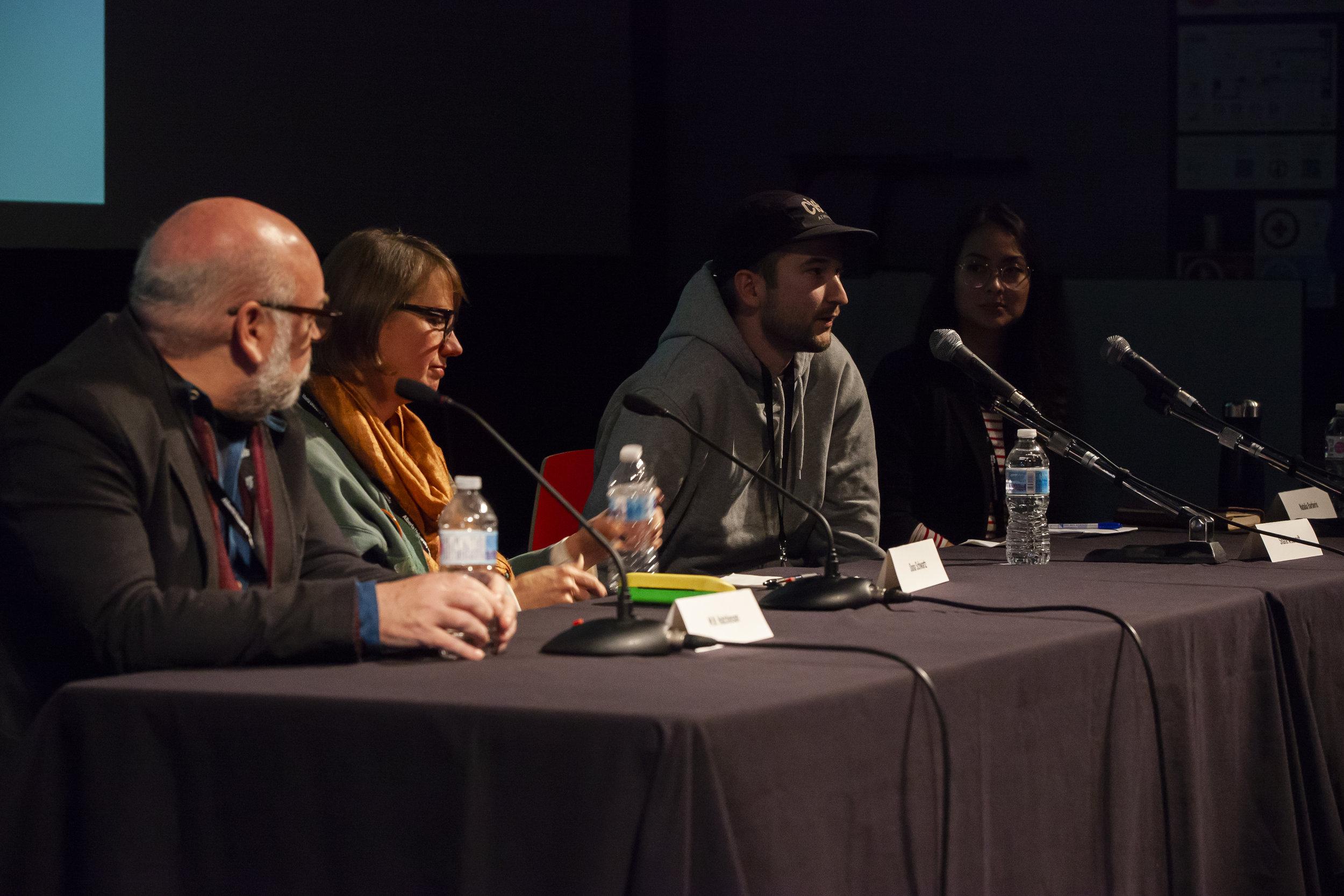 M.N Hutchinson, Dona Schwartz, Shane Arsenault & Natalia Barberis.
