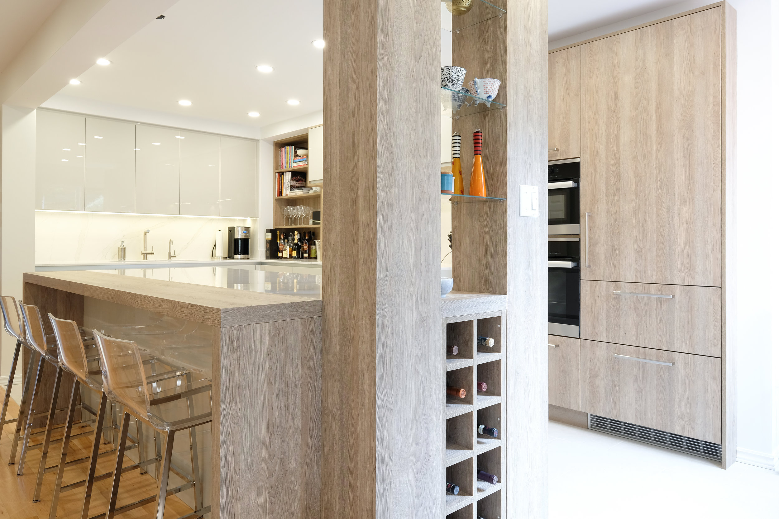 Beechwood Kitchen Built in Wine Rack.jpg