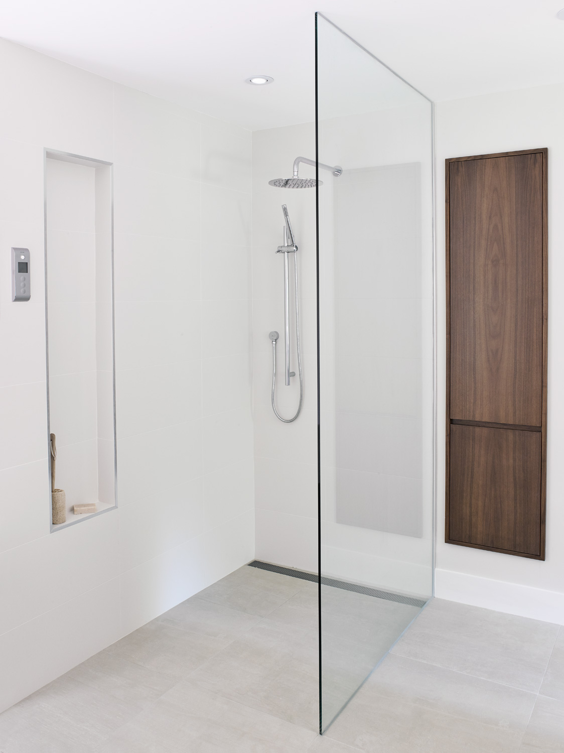 Curbless Shower with Linear Drain