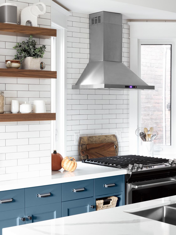 Narrow Kitchen in Toronto Home