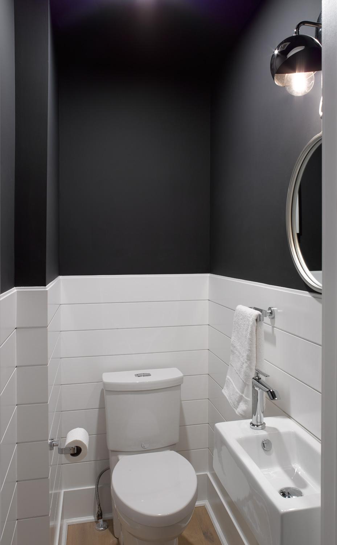 Black and White Powder Room