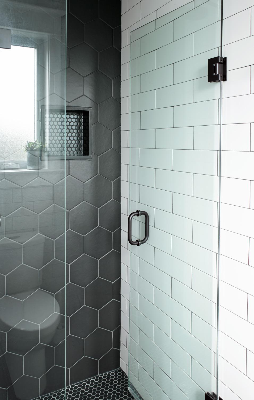 Hex Tile in Shower