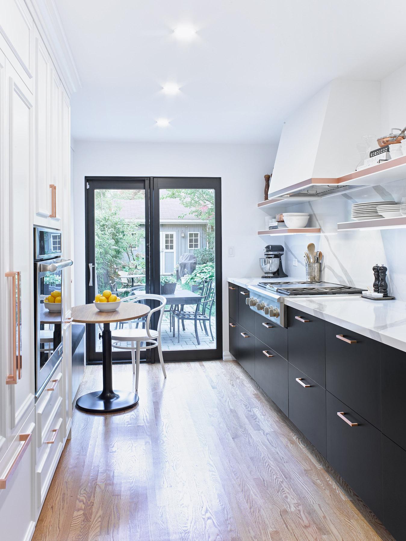 Black and White Bistro Kitchen Toronto