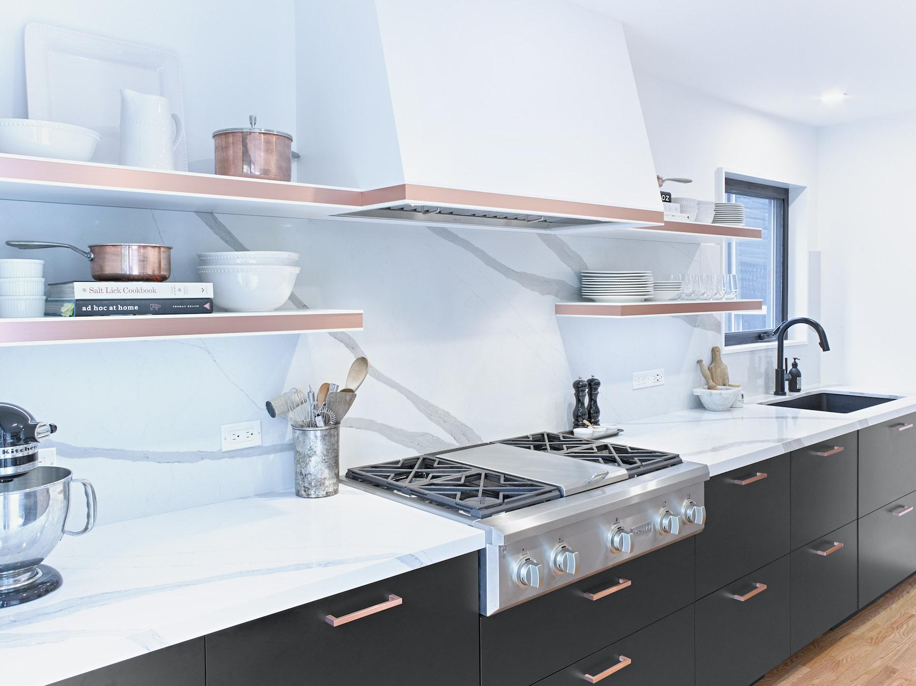 Parisian  Kitchen with Furniture Hood