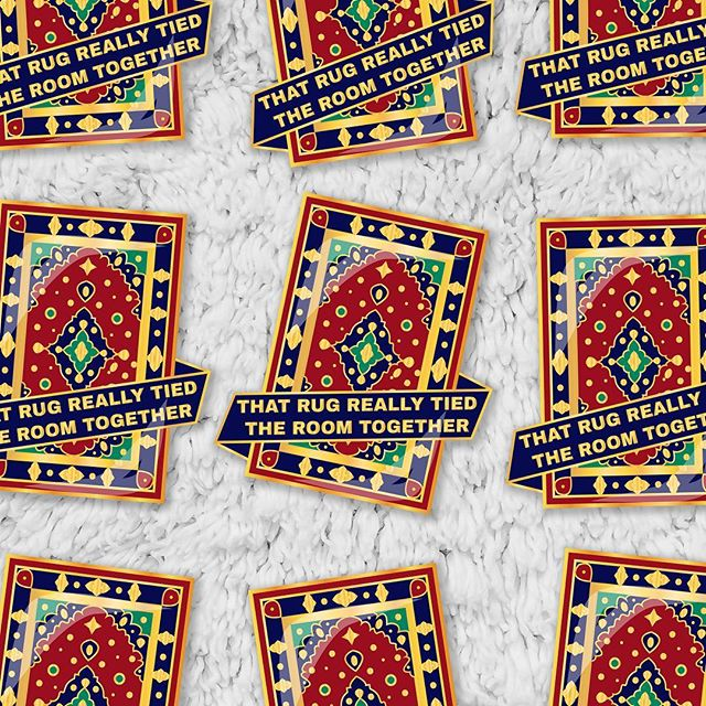 I'm soooo excited! I've been thinking about designing enamel pins for over a year. I just put my first one into production today!  It's based on one of my favorite movies, #thebiglebowski . It will be 1.5 inches tall, gold tone metal, hard enamel. I'll be putting up a listing for pre-orders soon!  #pingame #pinmaker #enamelpins #pins #enamelpin #enamelpingame #pingamestrong #pingameproper #pingameonpoint #biglebowskistyle #moviepins #makersgonnamake #maker #pin #pinlife #pinsofinstagram #pinstagram #flair #flairgame #pincommunity #pingameonpoint #newpins #newpinshop