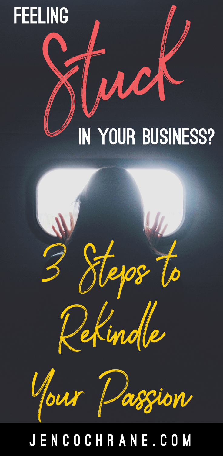 If you are feeling stuck or like you have lost your direction and drive in your business, these 3 steps will help you rekindle your passion so you can fall in love with your business all over again!