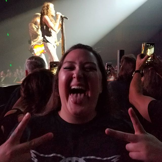 Awesome time seeing #aerosmith with my daughter on Saturday night!