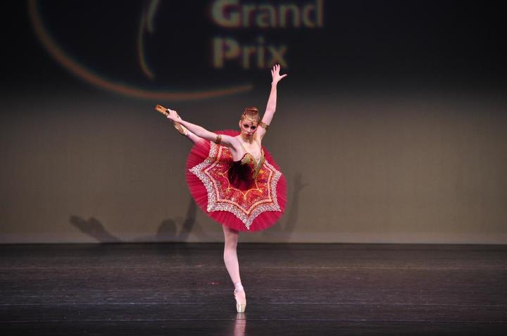 "Long Time Conservatory of Ballet Aviv student, Alyssa Huber, performs a variation from ""La Esmeralda"" at The Youth America Grand Prix competition."