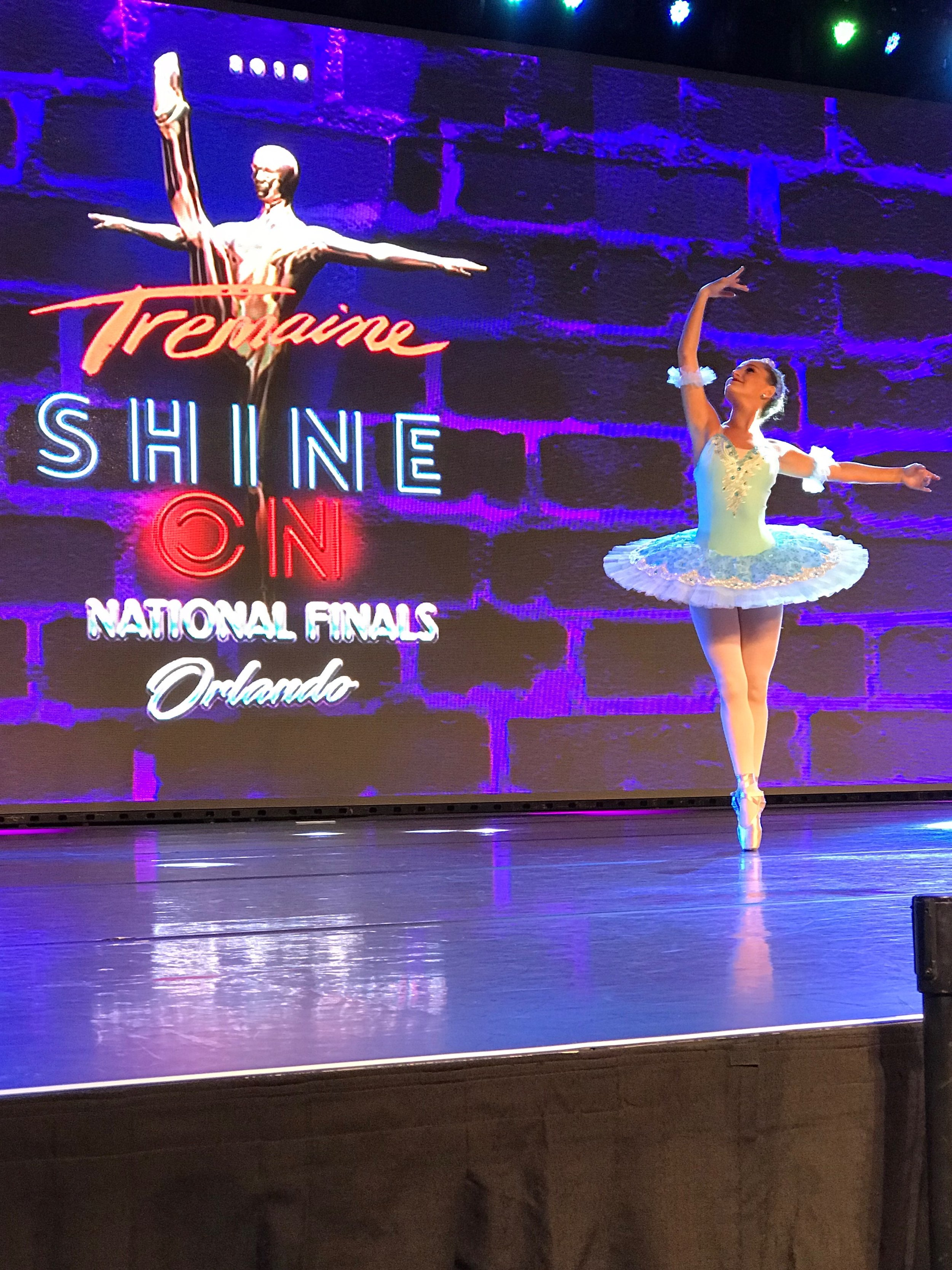 """Cameron Gilboy in her performance of """"Variation from Sleeping Beauty"""" at the Tremaine National Competition."""