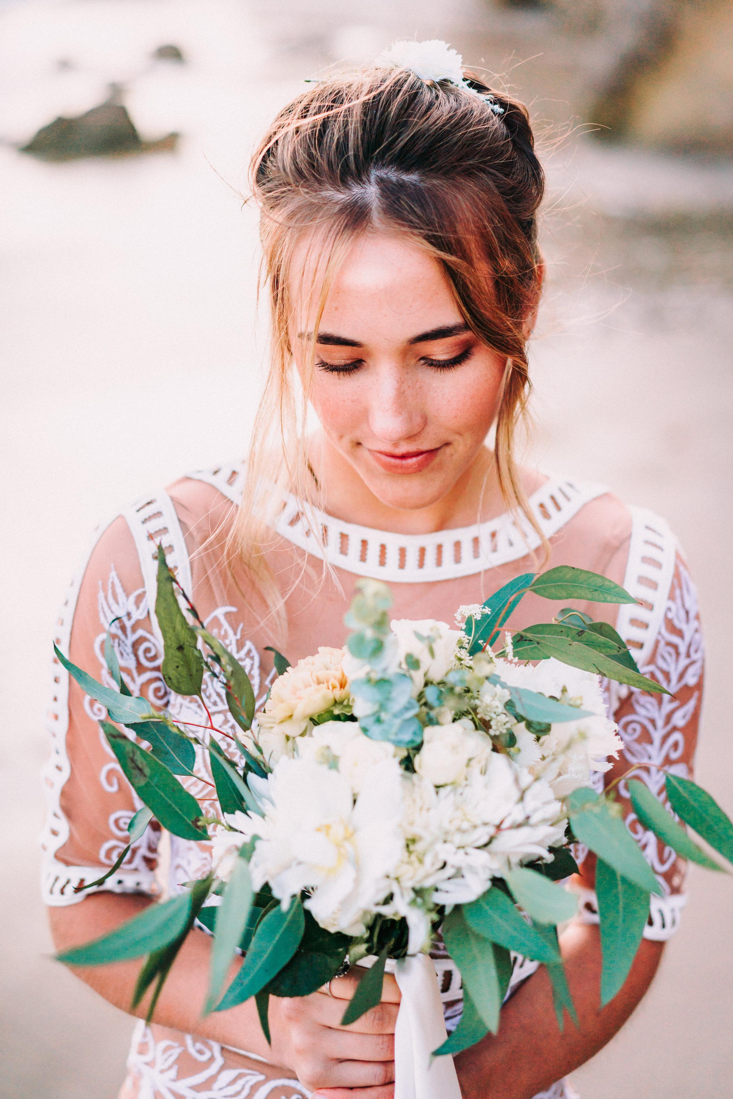Photo: Richard Luu  Hair: Lexi McGee  Bouquet: Juvee Floral