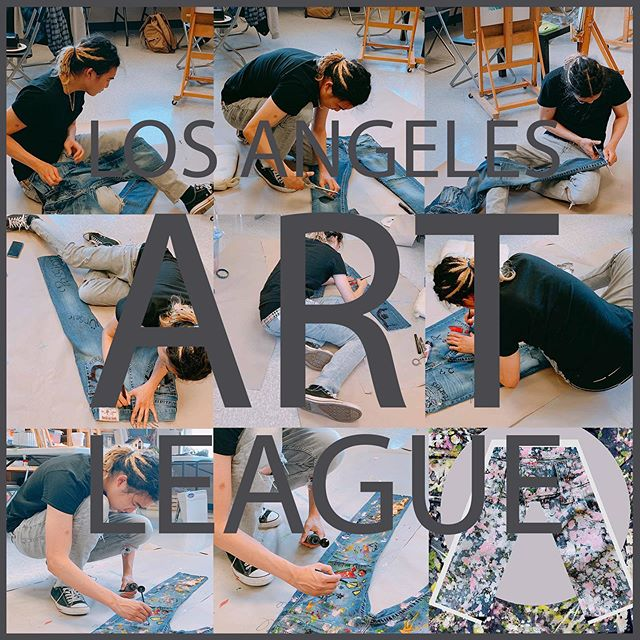 Summer Art Class! You will have fun all summer long!✨ . . #art #artistsoninstagram #fashion #sweing #painting #collage #collageart #design #modern #creative #study #losangeles #ktown #collegeprep #student #portfolio  #PARSONS #FIT #OTIS #Esmod #Paris #USA # losangelesartleague