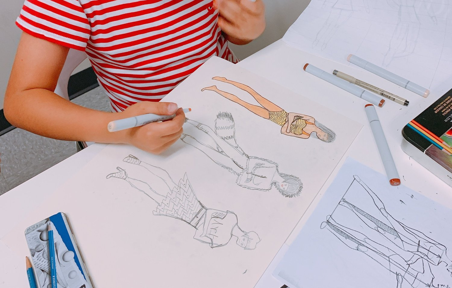 FASHION CLASS - Students will learn how to do figure drawing, fashion illustration, and clothing design.